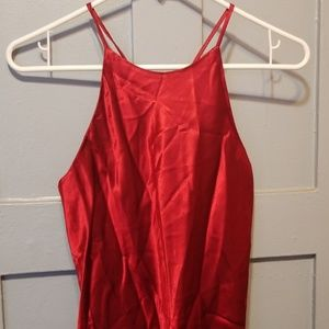 Dresses & Skirts - Vintage Red Mini Slip Dress, Size 2